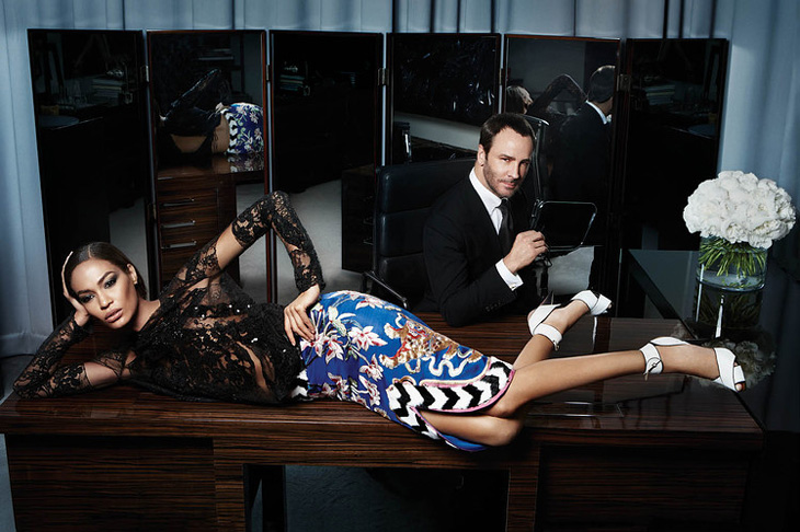 Joan Smalls & Tom Ford  by Solve Sundsbo for WSJ Magazine2013