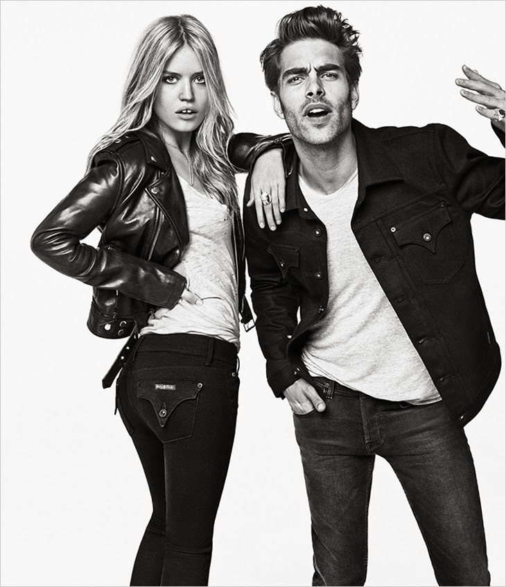 Georgia May Jagger & Jon Kortajarena for Hudson Jeans FW 2013-001