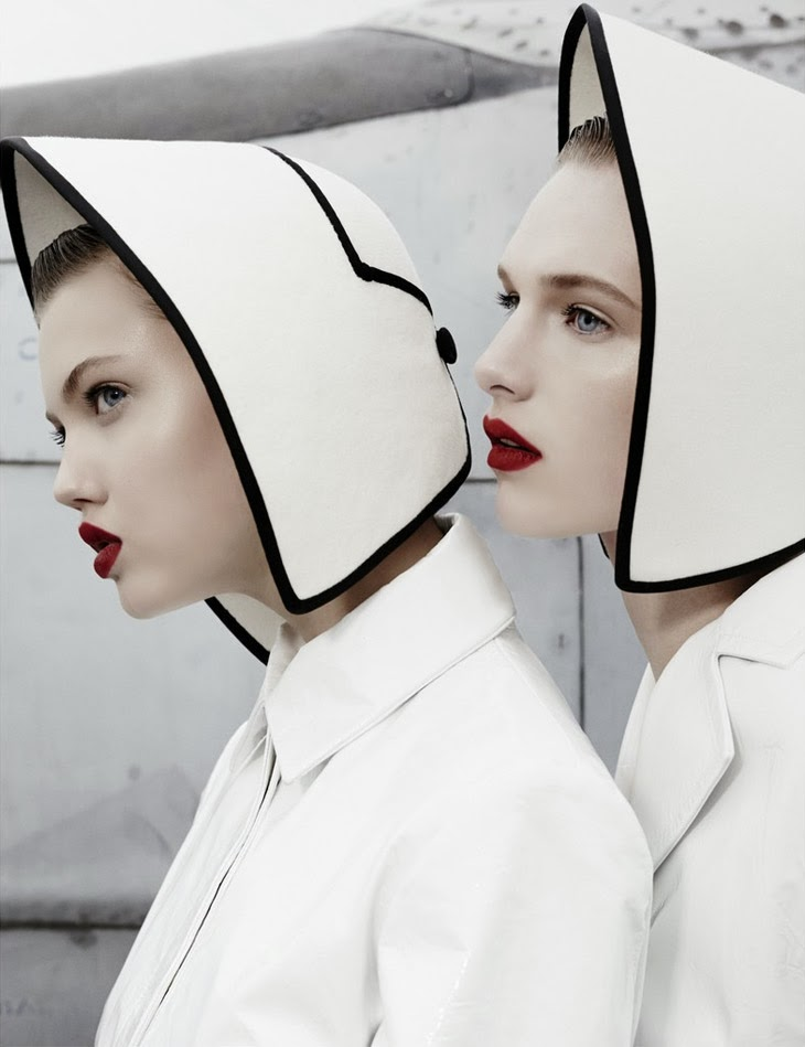 Lindsey Wixson & Ashleigh Good for W Magazine 2013-002
