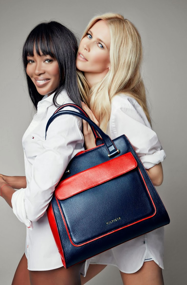 Naomi Campbell & Claudia Schiffer for Tommy Hilfiger 2013