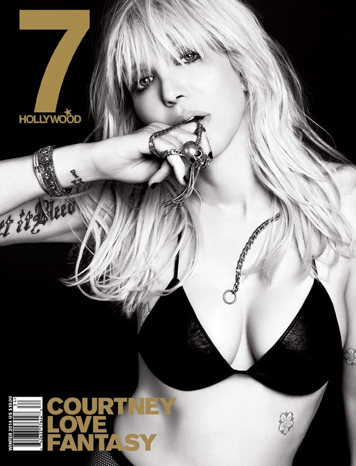 Courtney Love for 7Hollywood Fantasy Issue Covers