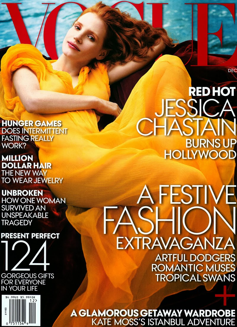 Jessica Chastain for Vogue December 2013 Cover