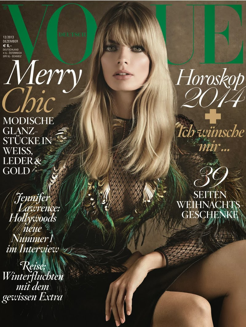 Julia Stegner for Vogue Germany December 2013 Cover