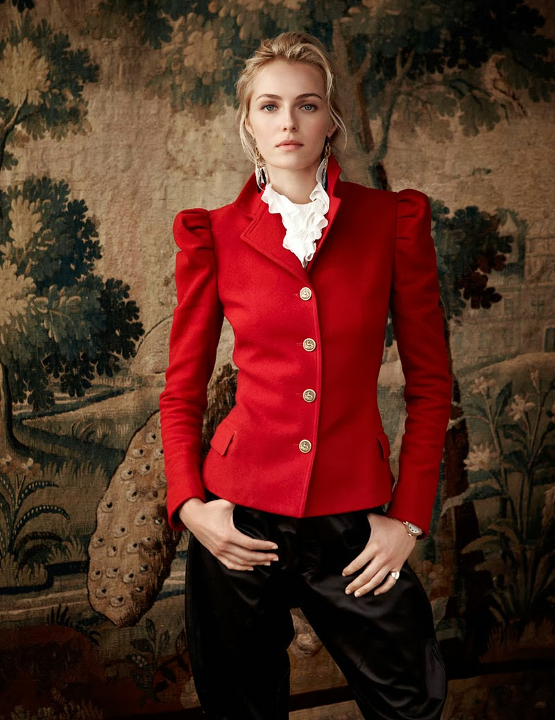 Valentina Zelyaeva for Ralph Lauren Holiday 2013