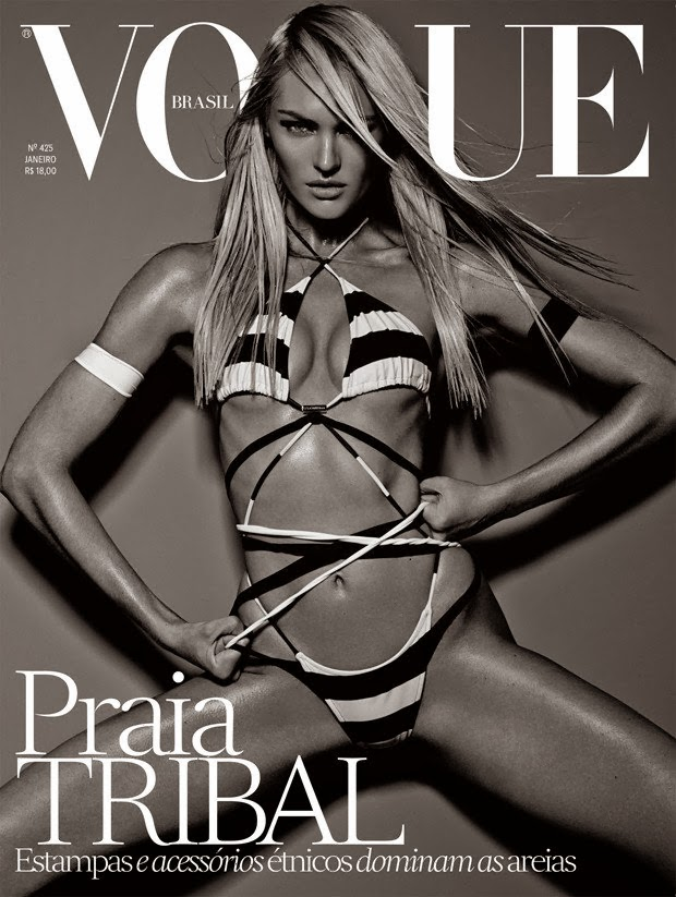 Candice Swanepoel for Vogue Brazil January 2014 Cover