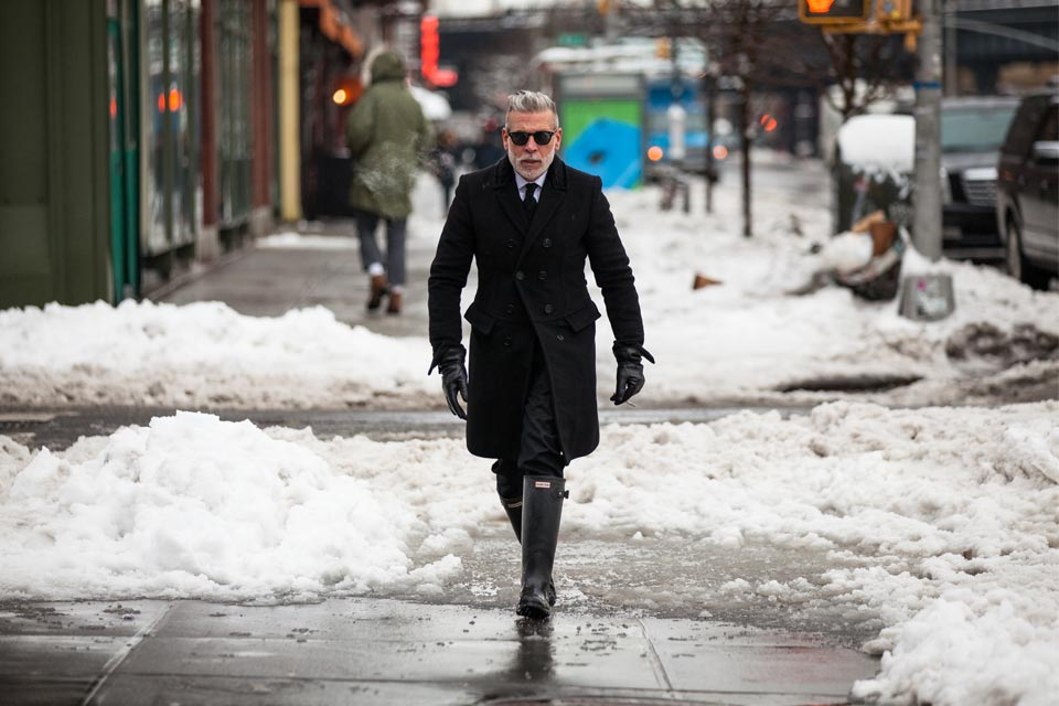 Street Style in New York Fashion Snow Week