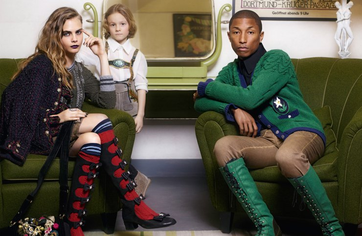 pharrell-williams-cara-delevingne-hudson-kroenig-by-karl-lagerfeld-for-chanel-mc3a9tiers-dart-2014-2015-1