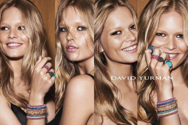 Anna Ewers in the David Yurman holiday campaign.