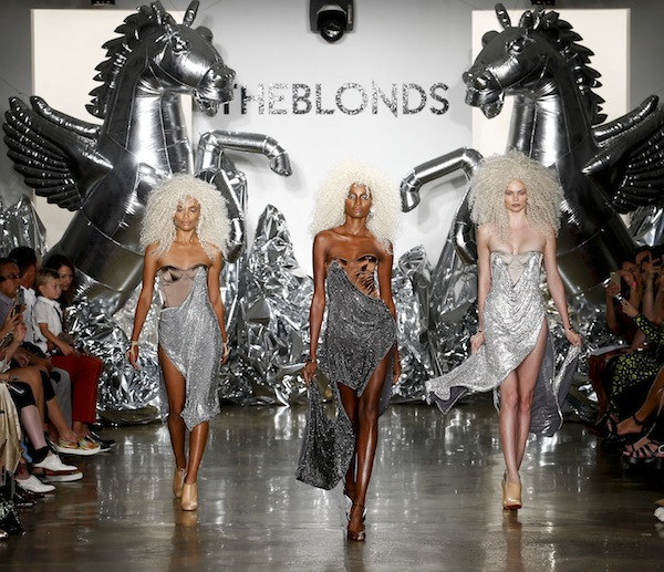 NEW YORK, NY - SEPTEMBER 11:  Models walk the runway at The Blonds fashion show during MADE Fashion Week September 2016 at Milk Studios on September 11, 2016 in New York City.  (Photo by Brian Ach/Getty Images)