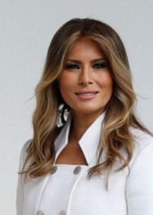 First Lady Melania Trump Wore Karl Lagerfeld Couture