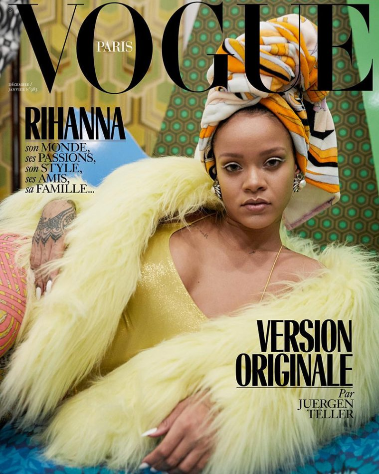 Rihanna for Vogue Paris December 2017/January 2018 Covers