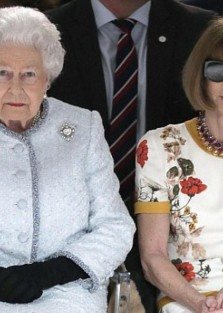Queen Elizabeth seen in front row of London Fashion Week