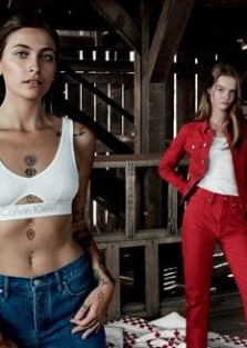 The girls are back in town Millie Bobby Brown and Paris Jackson for Calvin Klein Jeans SS18