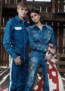 Lovely siblings Presley and Kaia Gerber for #mycalvins Spring 2018 campaign by Willy Vanderperre