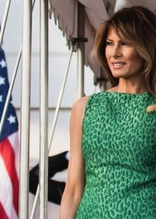 First Lady Melania Trump Wore Brandon Maxwell for St. Patrick's Day at the White House and she look Stunning!