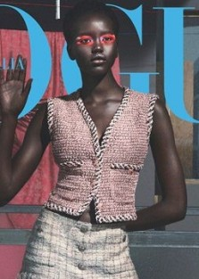 Adut Akech, Amandine Renard & Birgit Kos Cover Vogue Italia April 2018 Issue