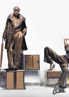 Gigi Hadid  for Burberry TB Monogram Spring 2019 Collection Nick Knight