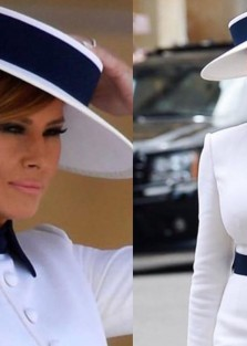 First Lady Melania Trump gorgeous in London.