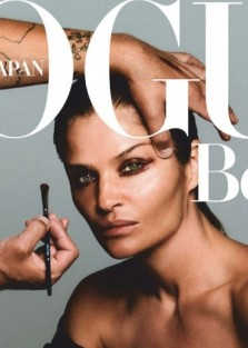 Helena Christensen is the cover of  Vogue Japan September 2019 by Chris Colls